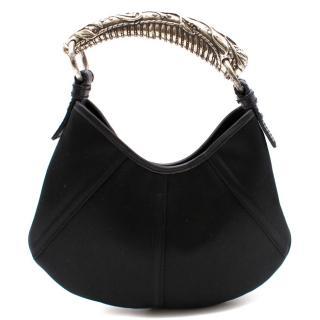 Yves Saint Laurent Black Silk Mombasa Bag
