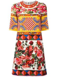 Dolce & Gabbana 'Mambo' Print Brocade Dress