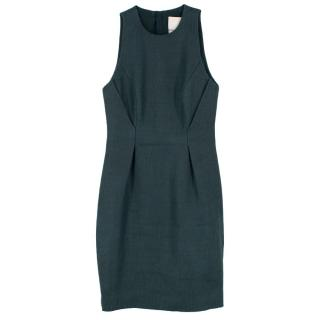 Jason Wu Jacquard Green Wool & Silk Shift Dress