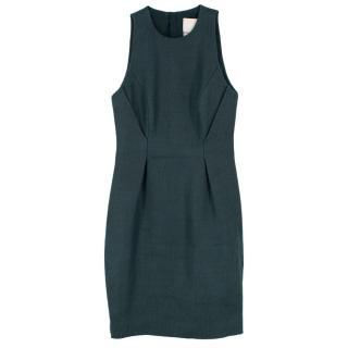 Jason Wu Jacquard Green Wool & Silk Shift Dress