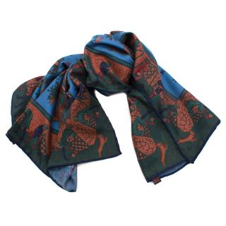 Holland and Holland Forest Print Silk Scarf