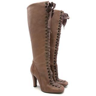 Stella McCartney Vegan Leather Lace up Boots