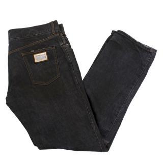 Dolce & Gabbana men's grey jeans