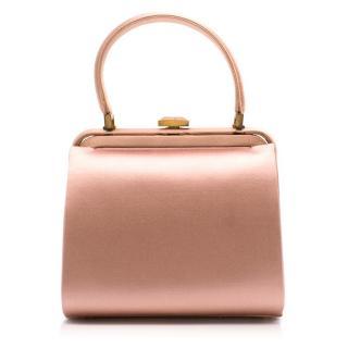 Malono Blahnik Pink Satin Top Handle Bag