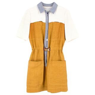 Proenza Schouler Woven Raw Silk Shirt Dress