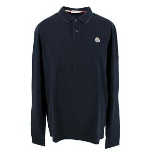 Moncler Men's Navy Long Sleeve Polo