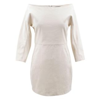 Donna Karan Off Shoulder Linen Dress