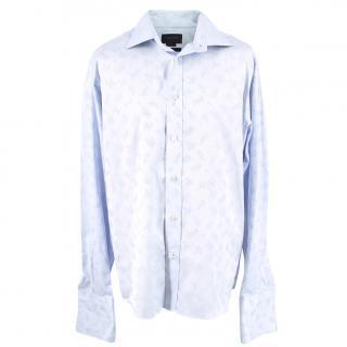Duchamp Jacquard Blue Floral Shirt