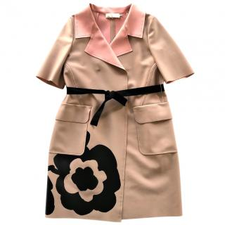 L'Autre Chose floral printed scuba coat