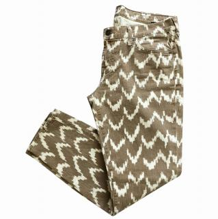 7 For All Mankind Geometric Print Jeans