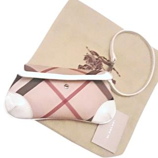 Burberry Nova Check Canvas and Leather Clutch