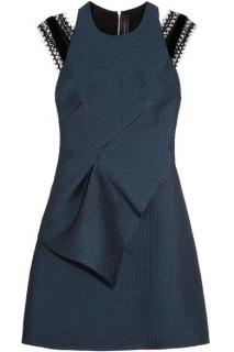 Roland Mouret Torrens lace-trimmed organza mini dress