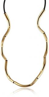 Noritamy Lasso brass hoops & 24ct Gold Necklace