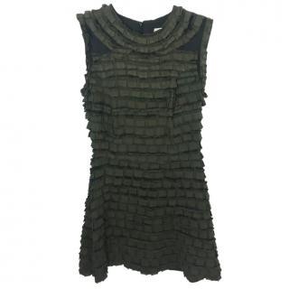 Sandro Dark Green Sleeveless Dress