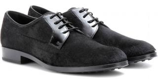 Tod's Black Calf Hair Brogues