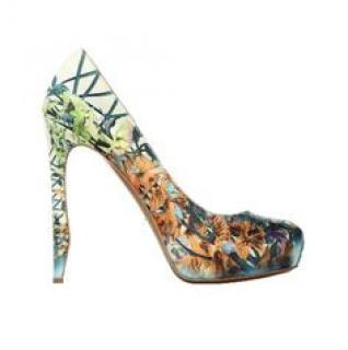 Nicolas Kirkwood Tropical Bird Print Pumps