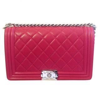 Chanel Cerise Red Large Boy Bag