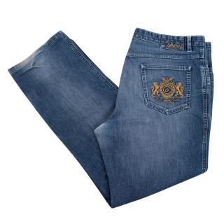 Brioni Men's Blue Denim Jeans