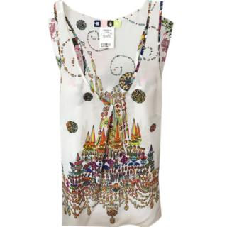 MSGM Silk Sleeveless Top