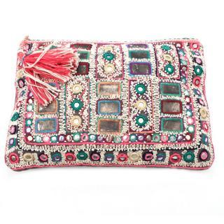 Star Mela Banjari Embellished Holiday Clutch