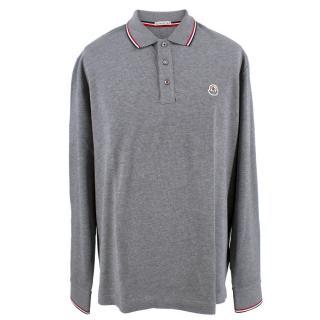 Moncler Men's Grey Long Sleeve Polo