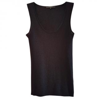MAXMARA Black wool sleeveless top