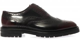 Burberry Prorsum Burnished Leather Lace Up Shoes