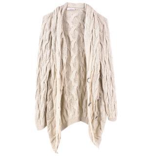 Nina Ricci Cable Knit Cashmere Cardigan