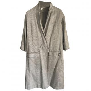 Goat Metallic Linen Coat