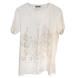 Balmain White Printed T-shirt