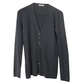 Prada grey cashmere cardigan