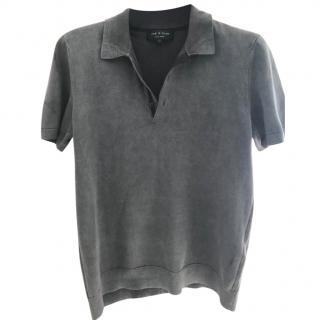 Rag & Bone grey polo top