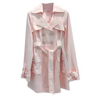 Blumarine Pink Trench Coat