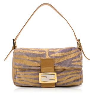 Fendi Zucca Tiger Shoulder Bag