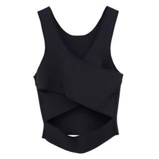 Issa Black Sleeveless Jersey Crossover Top