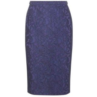 Burberry London Blue Lace Skirt