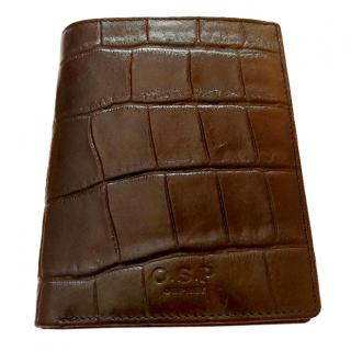 Osprey Black Crocodile Style Leather Wallet