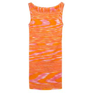 Missoni Backless Printed Fringed Dress