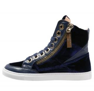 Elisabetta Franchi velvet high top trainers