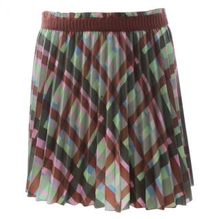 M Missoni Check Pleated Mini Skirt