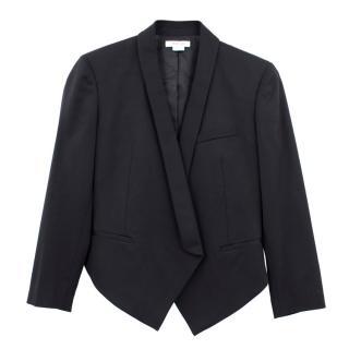 Helmut Lang Cropped Tuxedo Wool Blazer