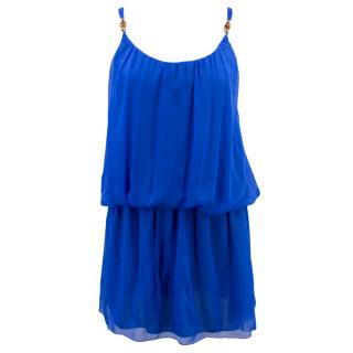 Heidi Klein Baja Silk Drop Waist Mini Dress