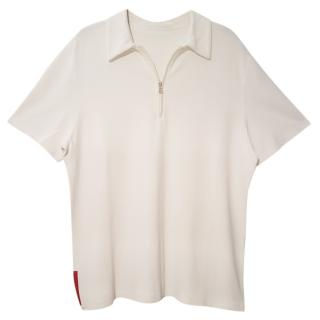 Prada white polo t-shirt