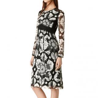 Burberry Prorsum tie-dye silk printed dress