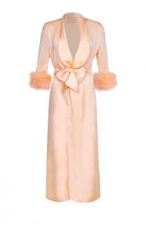 Maguy de Chadirac Marabou Feather Trimmed Dressing Gown
