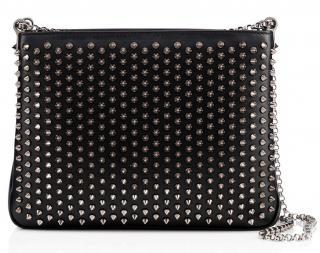 Christian Louboutin's 'Triloubi' Large Spiked Leather Shoulder Bag