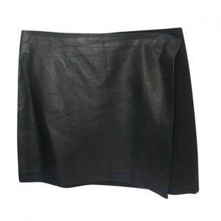 Theory Front Wrap Leather Skirt