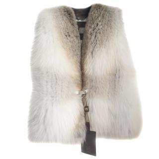 CPL white fox waistcoat