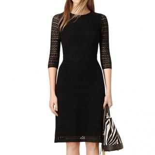 Burberry Prorsum Black Silk Lace Dress