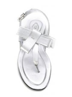 Tod's Bow Detail Metallic Sandals